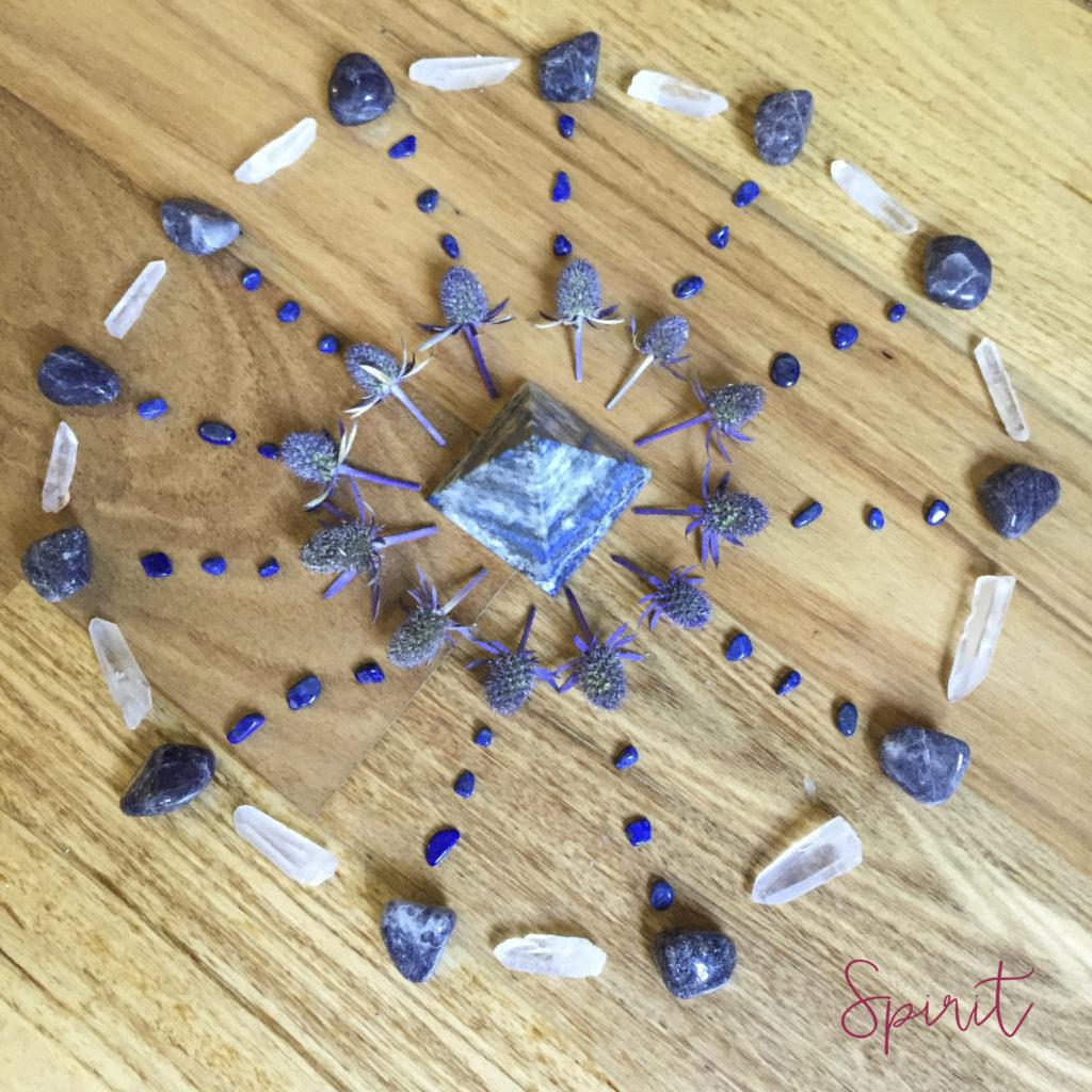 Vision crystal grid