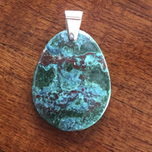 Azurite pendant for sale a surplice of spirit chrysocolla pendant mozeypictures Images