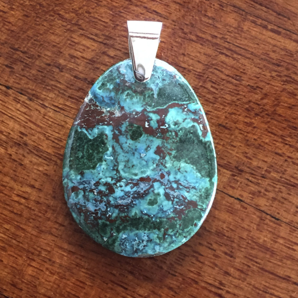 Large chrysocolla pendant for sale a surplice of spirit oval chrysocolla pendant mozeypictures Images