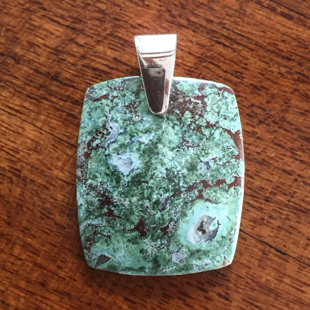 Large chrysocolla pendant for sale a surplice of spirit rectangle chrysocolla pendant mozeypictures Image collections