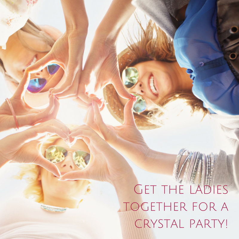 Crystal Parties in Brisbane run by Melanie from a Surplice of Spirit